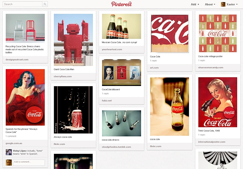 Pinterest Styled Board
